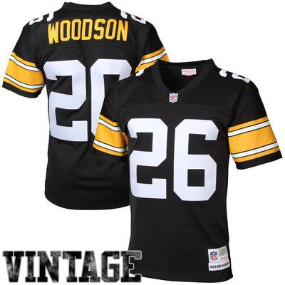 Mens Pittsburgh Steelers Rod Woodson Mitchell   Ness Black Retired Player  Vintage Replica Jersey 4ba22e94b