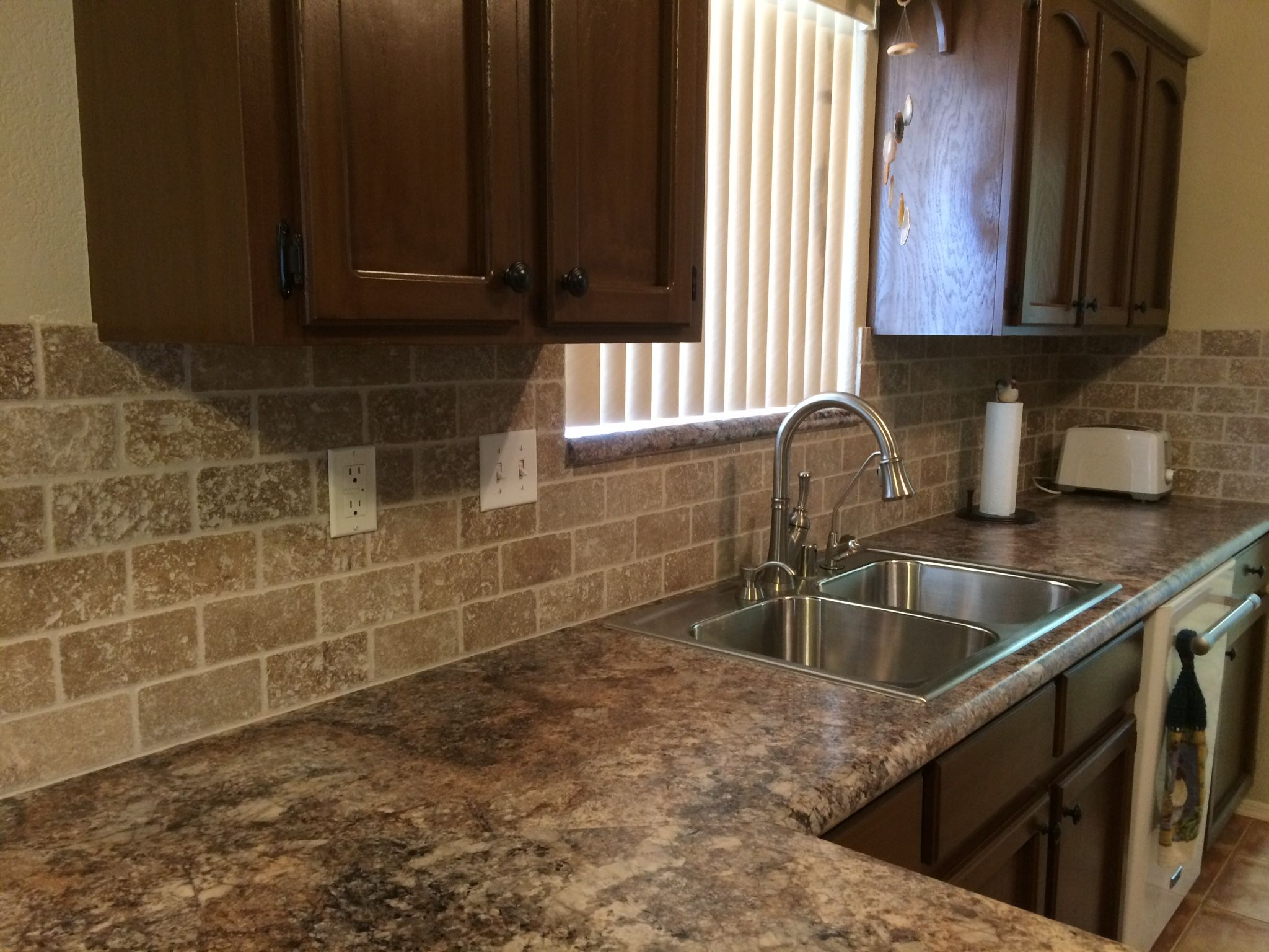 Laminate Kitchen Backsplash Formica 39s Quotantique Mascarello Quot Counter With Tumbled Noce 3