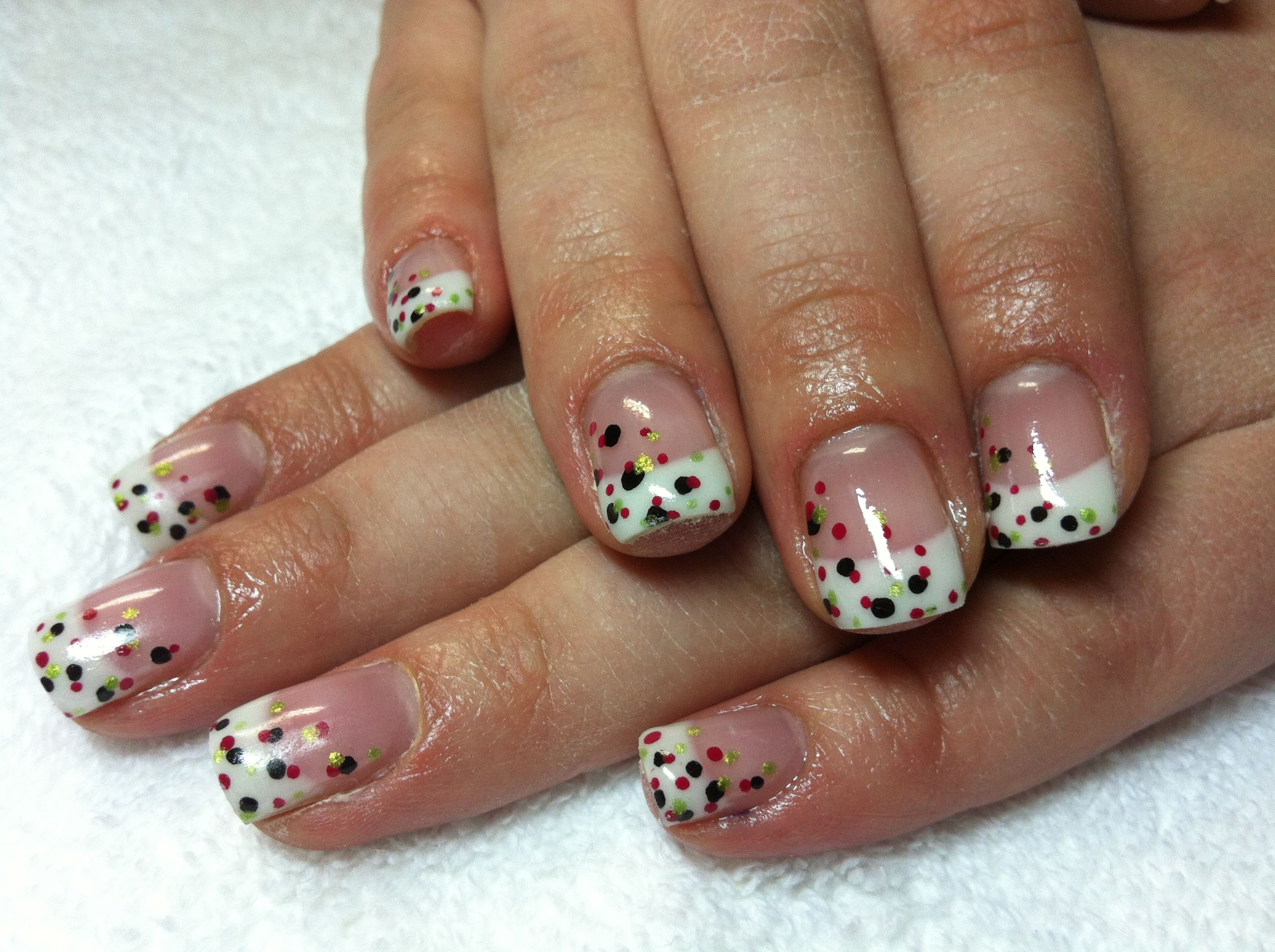 nail designs on french tips - Google Search | MY NAILS ARE SO CUTE ...