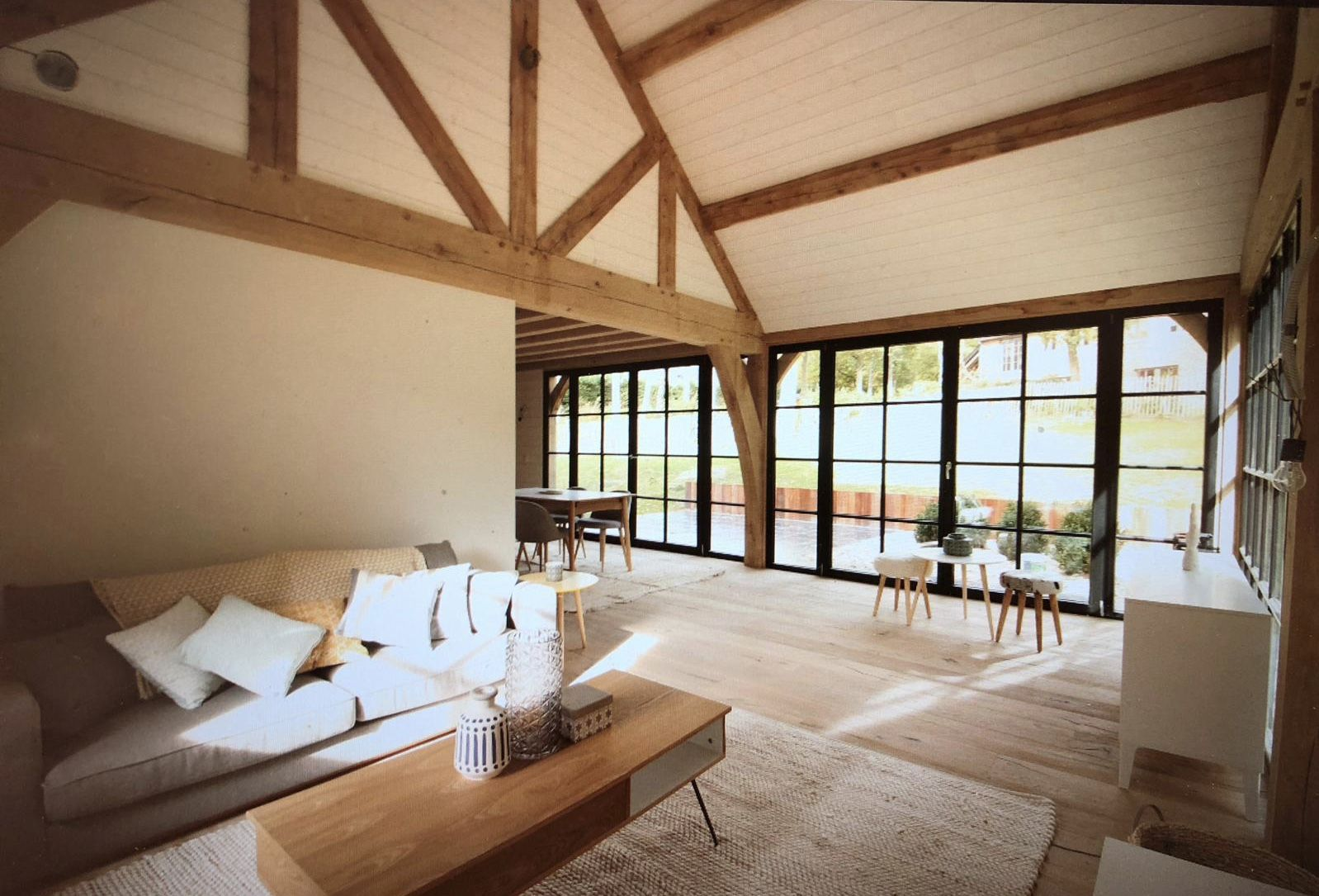 Maison Structure Chene Oakframe Oak Belgium Oakframedhouse Charminghouse Beams Emac Invest