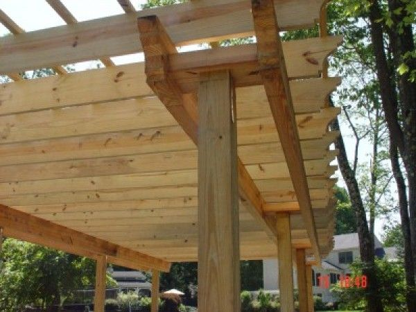 How To Build Pergolas Over Fire Pits Ehow Building A Pergola Pergola Patio Pergola