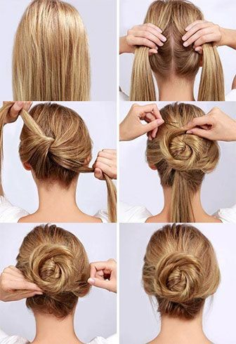 Easy Bun Hairstyle Tutorials For The Summers Top 10 Heart Bows Makeup Indian Makeup Beauty Blog Hair Bun Tutorial Easy Hairstyles Short Hair Top Knot