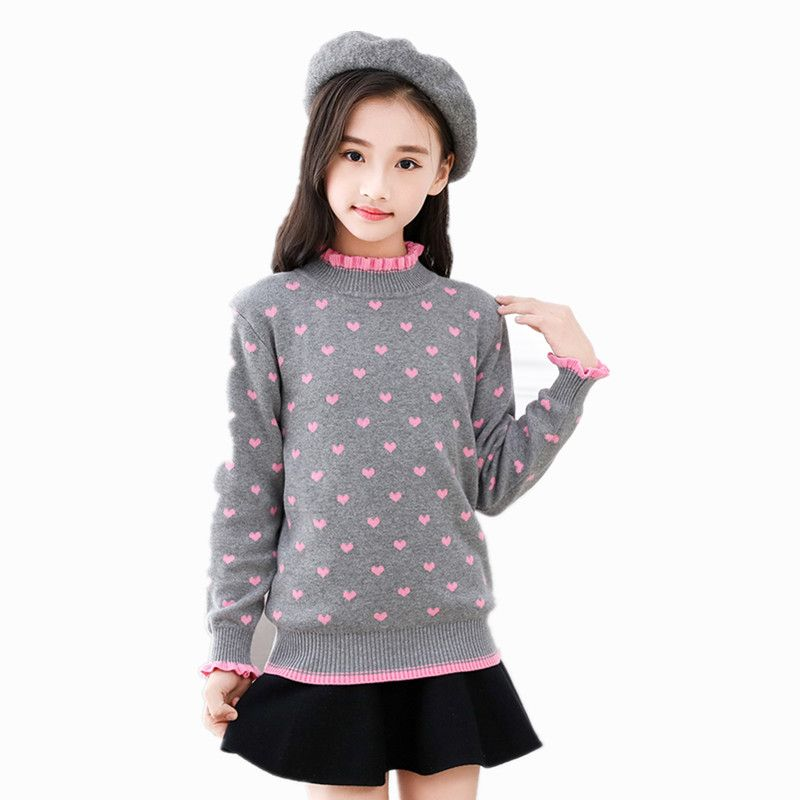 8de699889920 Winter Girls Sweater Knitted Pullover Cardigan For Teenage Girls ...
