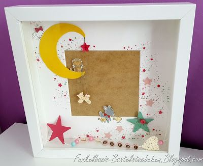Ikea ribba rahmen frame geschenk geburt baby stampin for Cadres photo box ikea