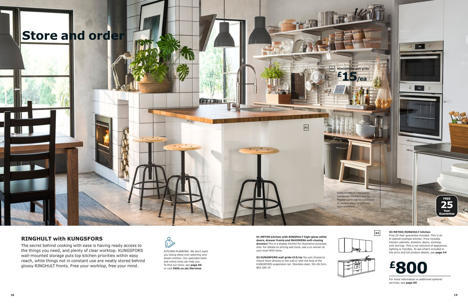Store and order - Kitchen Brochure 8  Ikea kitchen, Cuisine