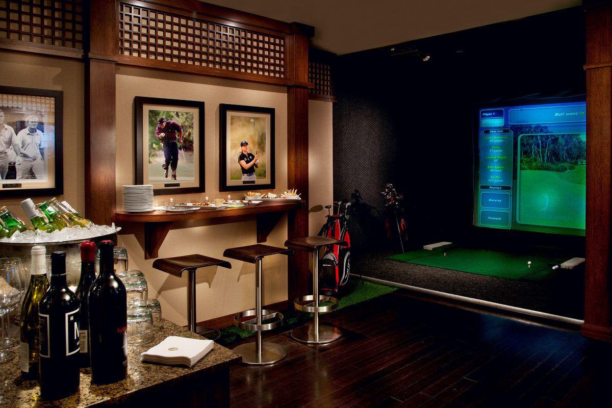 Man Cave Golf Simulator : Home golf simulator almost complete