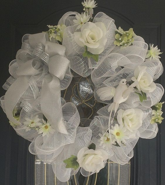 Wedding Wreaths For Front Door: THIS WREATH CAN BE FOR A BRIDAL