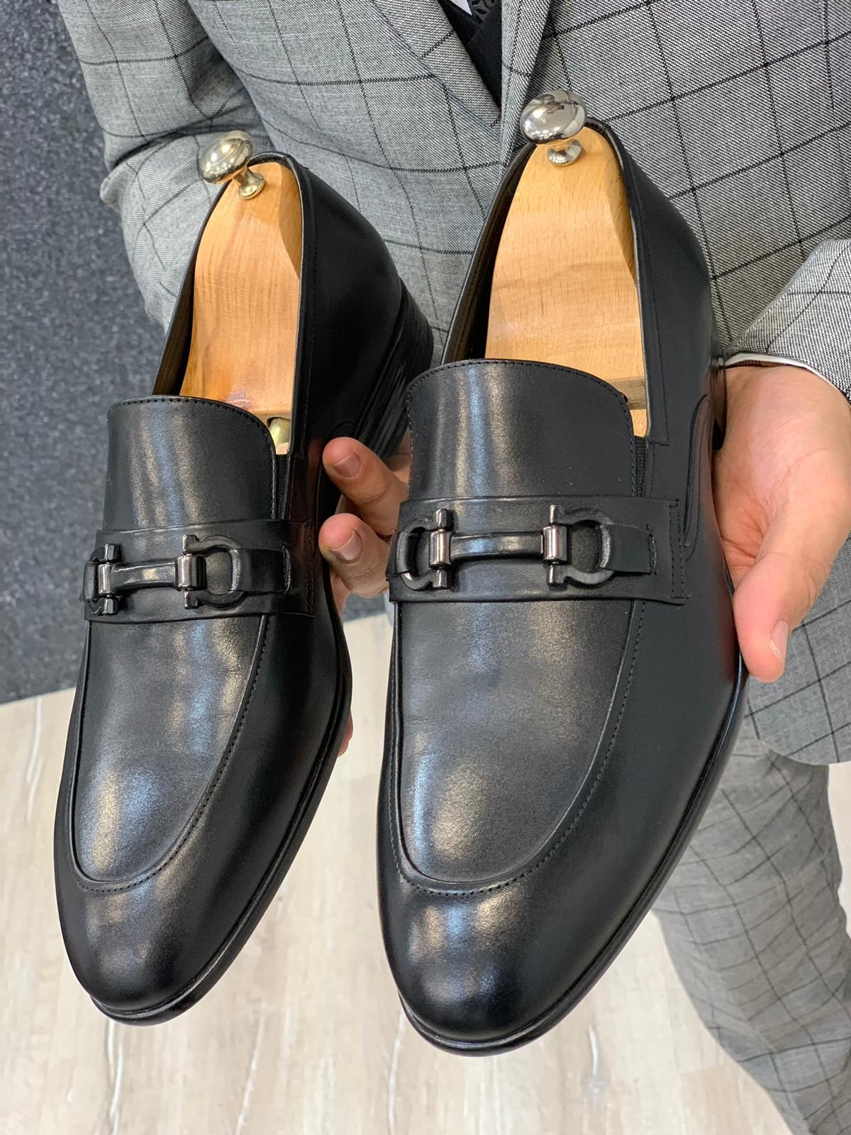 Buckled Antique Black Shoes Dress Shoes Men Mens Casual Leather Shoes Gentleman Shoes