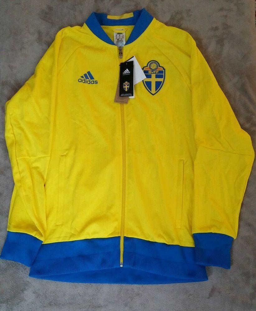 Addias Mens Sweden Svff Anthem Soccer Jacket Track Nwt Yellow Royal M L Xl Adidas Soccer Swedennationalteam Jackets Clothing Deals Ebay Clothes