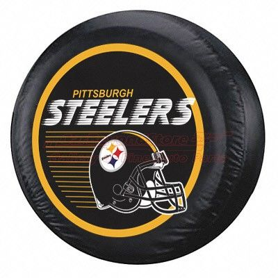 Nfl Pittsburgh Steelers Logo Spare Tire Cover For Jeep Suvs