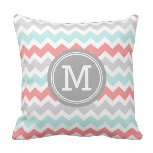 Reversible Duvet Coverin Coral and Navy Chevron Dorm Twin ...