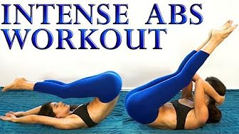 intense ab workout for women at home - YouTube