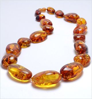 Natural Gemstone Beads Femme Baltic Amber Collier