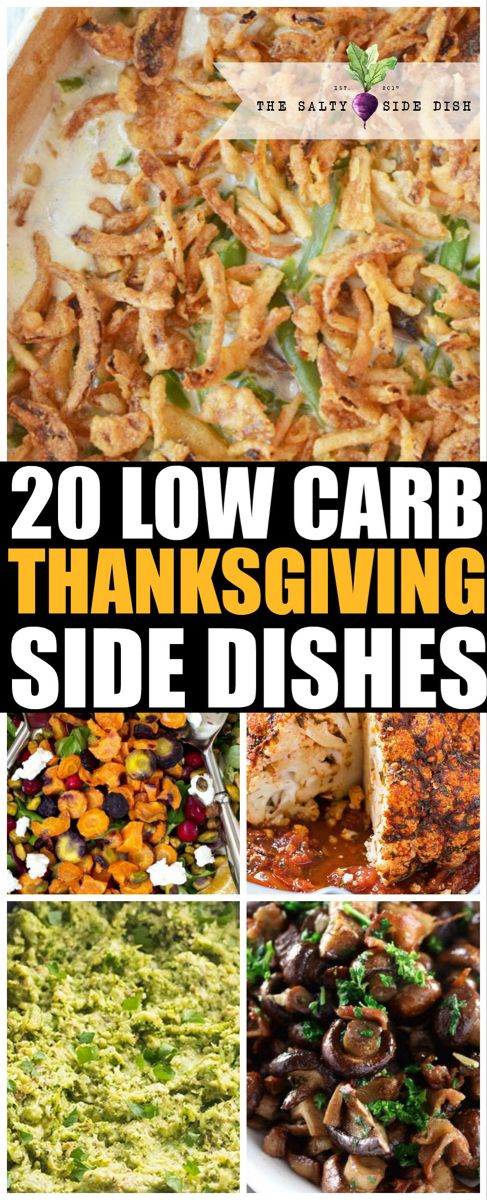 20 Low Carb Side Dishes for Thanksgiving | Salty Side Dish #tacosidedishes
