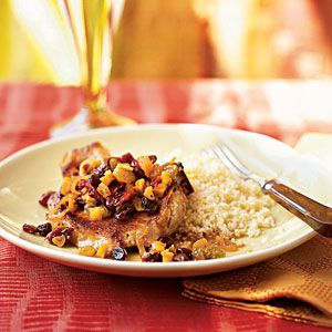 Superfast Fruit Recipes | Pan-Seared Pork Chops with Dried Fruit | CookingLight.com