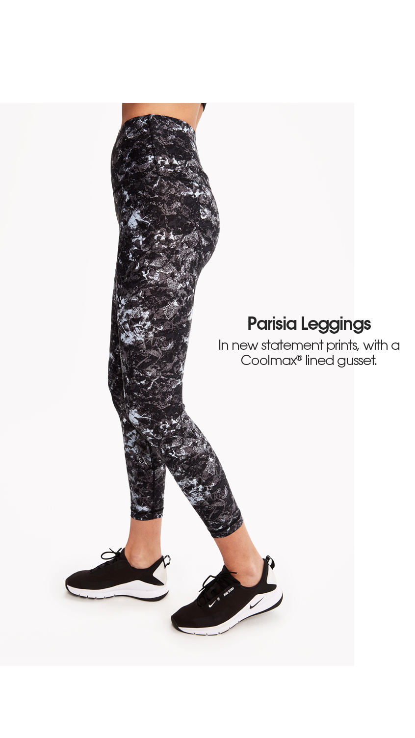 04b8a867af1c4e This high waist legging is lined with coolmax® for instant moisture  control. 4 way stretch gives you the freedom to move, bend, and stretch  however you ...