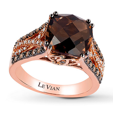 aa2f763e3 Le Vian Chocolate Quartz 1/3 ct tw Diamonds 14K Gold Ring in 2019 ...