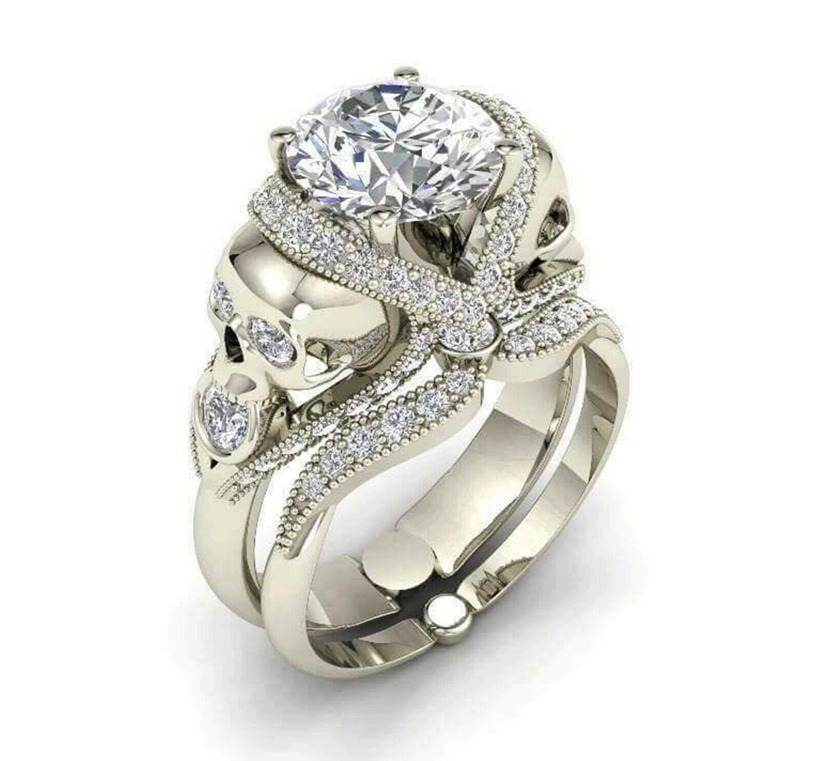 2 12 ct sim diamond flower lotus 14k gold engagement