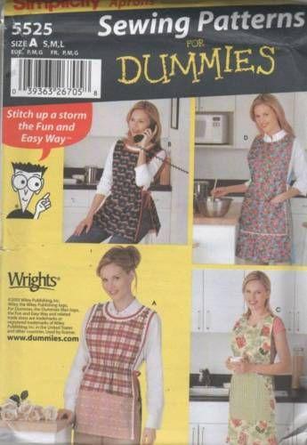 5525 Sewing Pattern Ladies Tabard Apron Smock S M L | sewing stuff ...