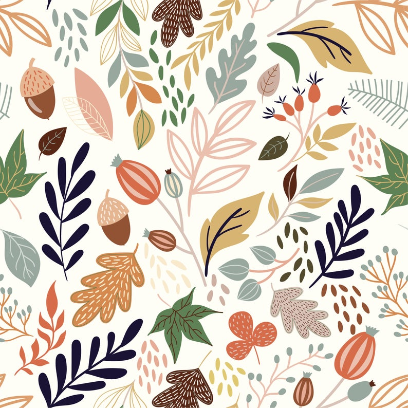 Wallpaper Autumn In The Forest 181 Wallpaper Classic Etsy In 2021 Pink And Grey Wallpaper Black And Blue Wallpaper Orange Wallpaper