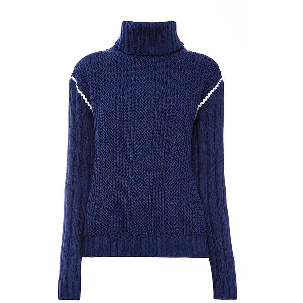 Anna October Navy Knit Turtleneck ($520) ❤ liked on Polyvore ...