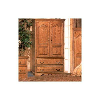 Bebe Furniture Country Heirloom Large TV Armoire Finish: Medium Wood