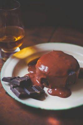 Chocolate whiskey custard