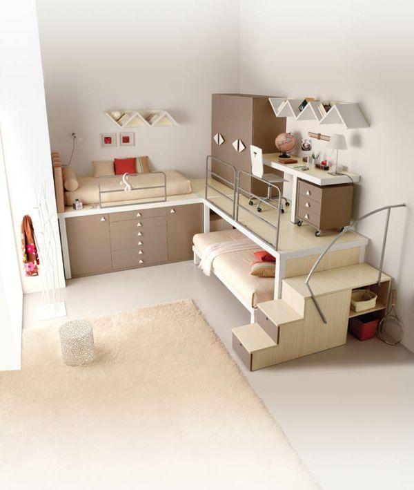 60 id es pour un am nagement petit espace pour petite. Black Bedroom Furniture Sets. Home Design Ideas