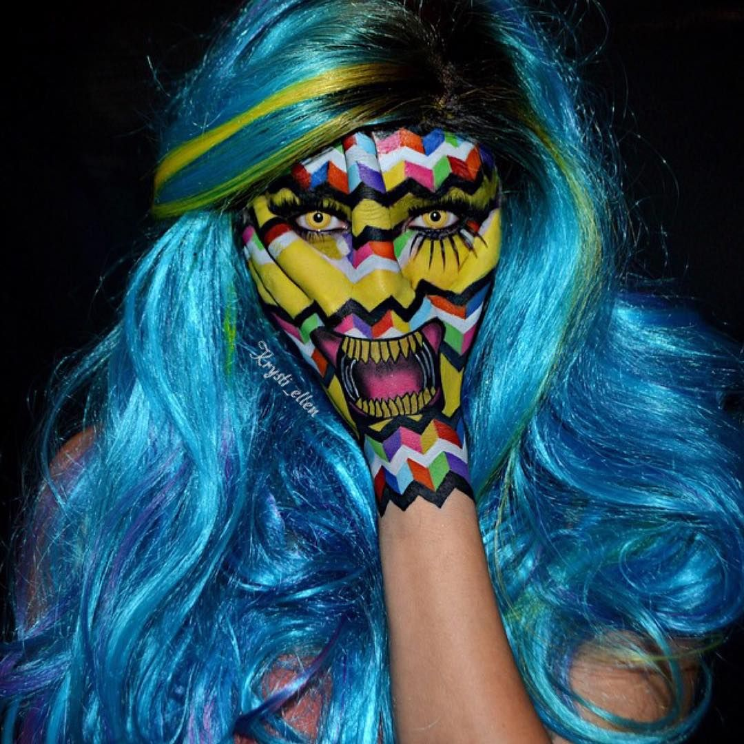 Creepy haunting face paints (With images) Face painting