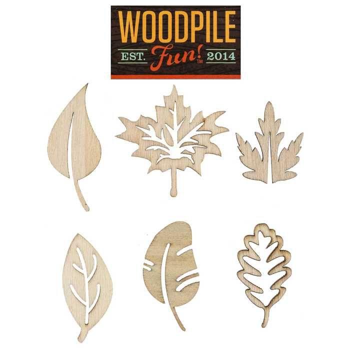 Laser Cut Wooden Leaves
