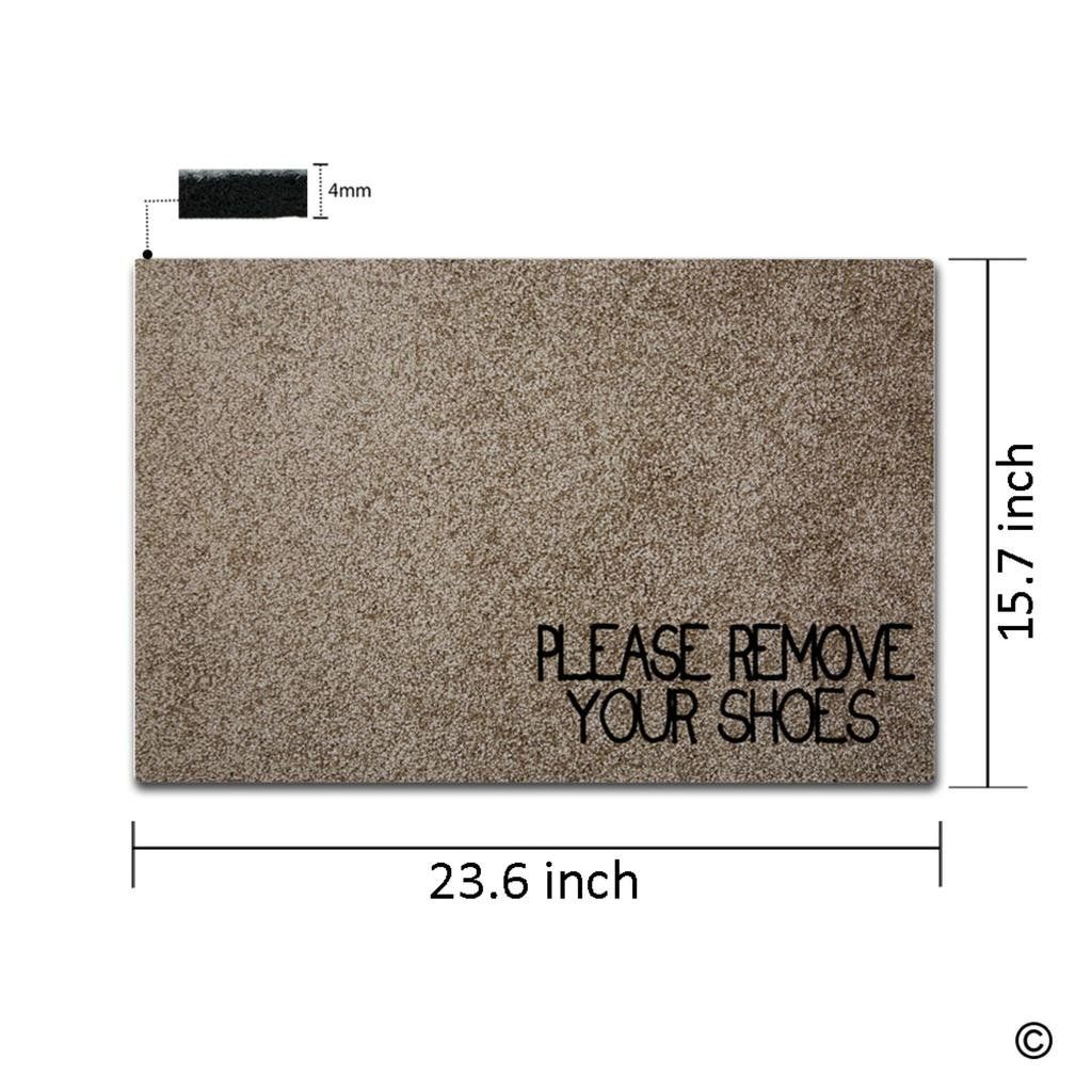 Msmr Doormat Entrance Floor Mat Please Remove Your Shoes Funny Door Mat Indoor Outdoor Decorative Doormat Nonw Outdoor Door Mat Entrance Door Mats Entrance Mat
