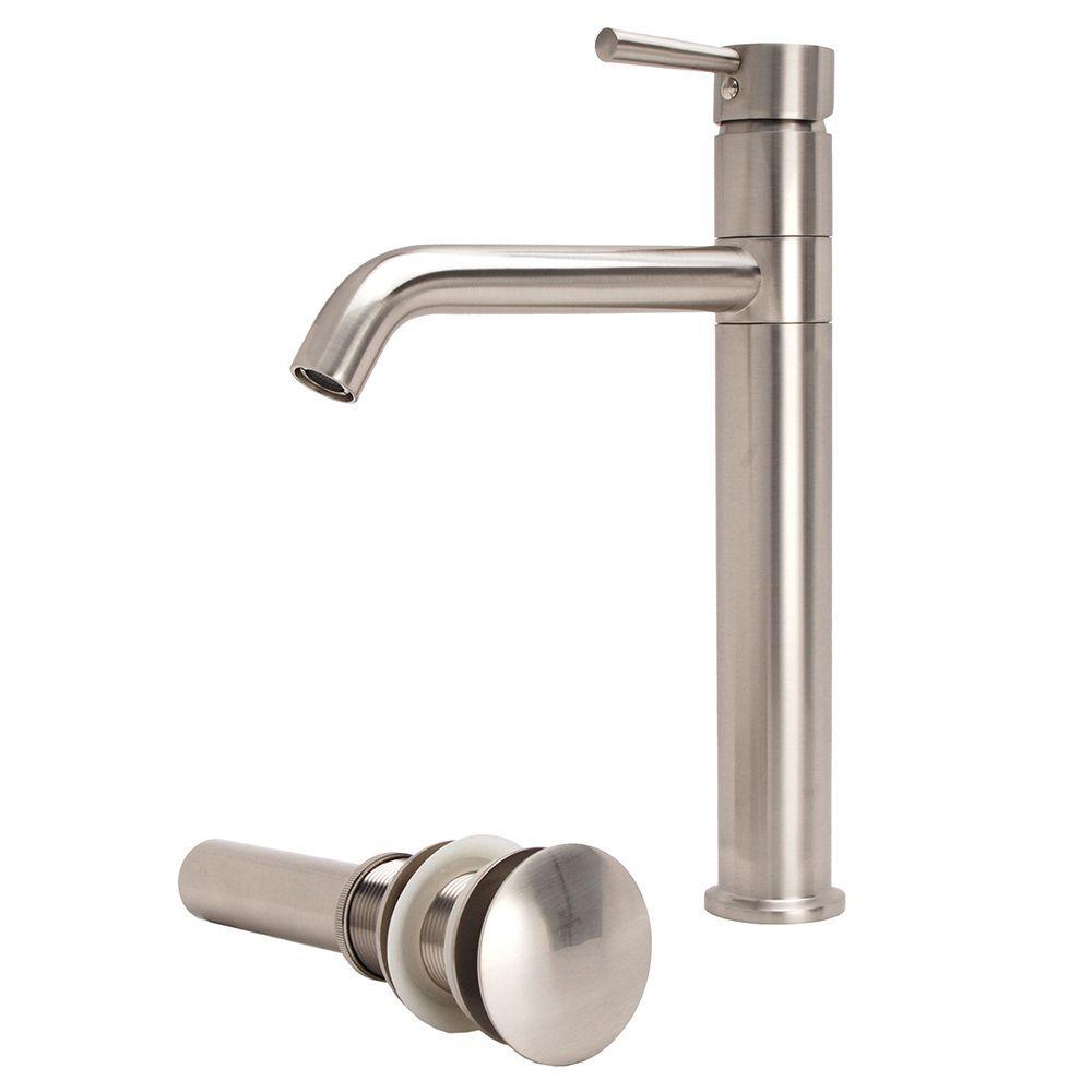 Fontaine LSH Brushed Nickel European Swivel Arm Vessel Sink Faucet ...