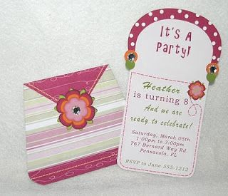 Kids Theme Party's: Our Unique Purse Birthday Invitation is sure to be a hit with the young ladies!
