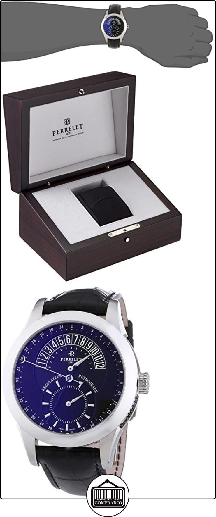 Perrelet  1041/5 - Reloj de automático para hombre, con correa de otros materiales, color negro  ✿ Relojes para hombre - (Lujo) ✿