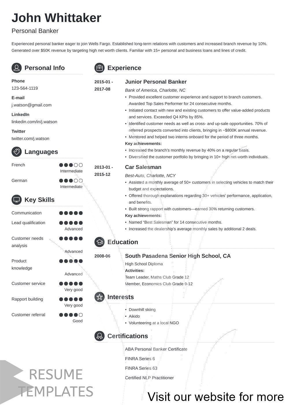 resume builder free for students in 2020 Resume design