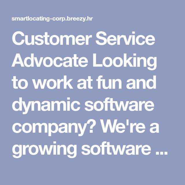 Customer service advocate
