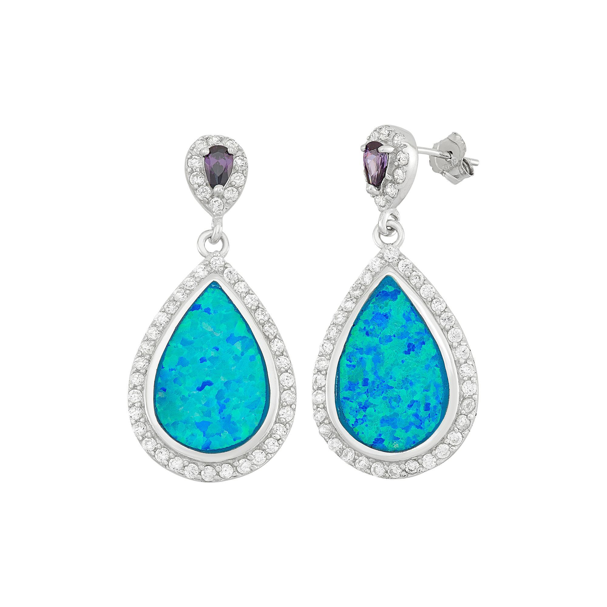 earrings opal img product fish that fire earring blue elegant hook store drop