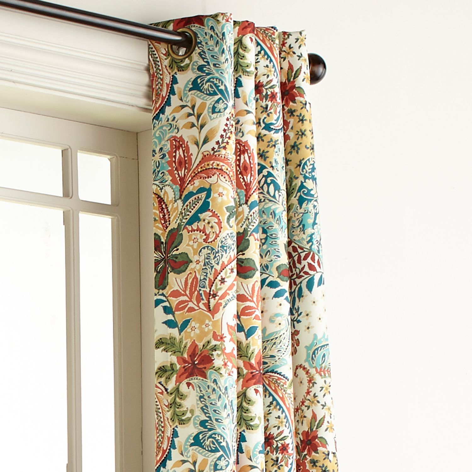 Clara Floral 96 Grommet Curtain Pier 1 Imports Curtains Living Room Living Room Decor Curtains Curtain Designs #patterned #curtains #for #living #room
