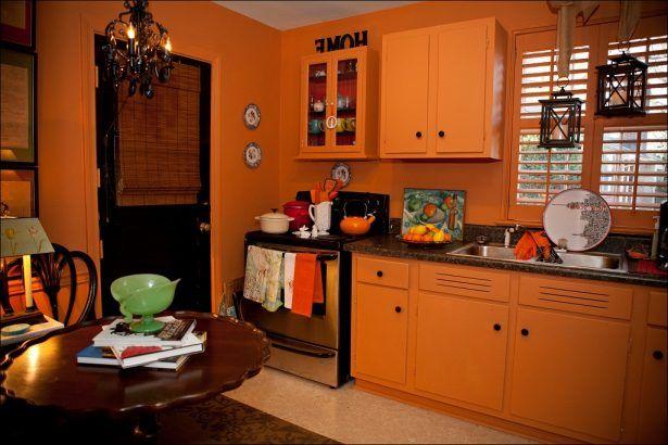 Kitchen:Kitchens Painted Orange Kitchens Painted Orange | Kitchen ...