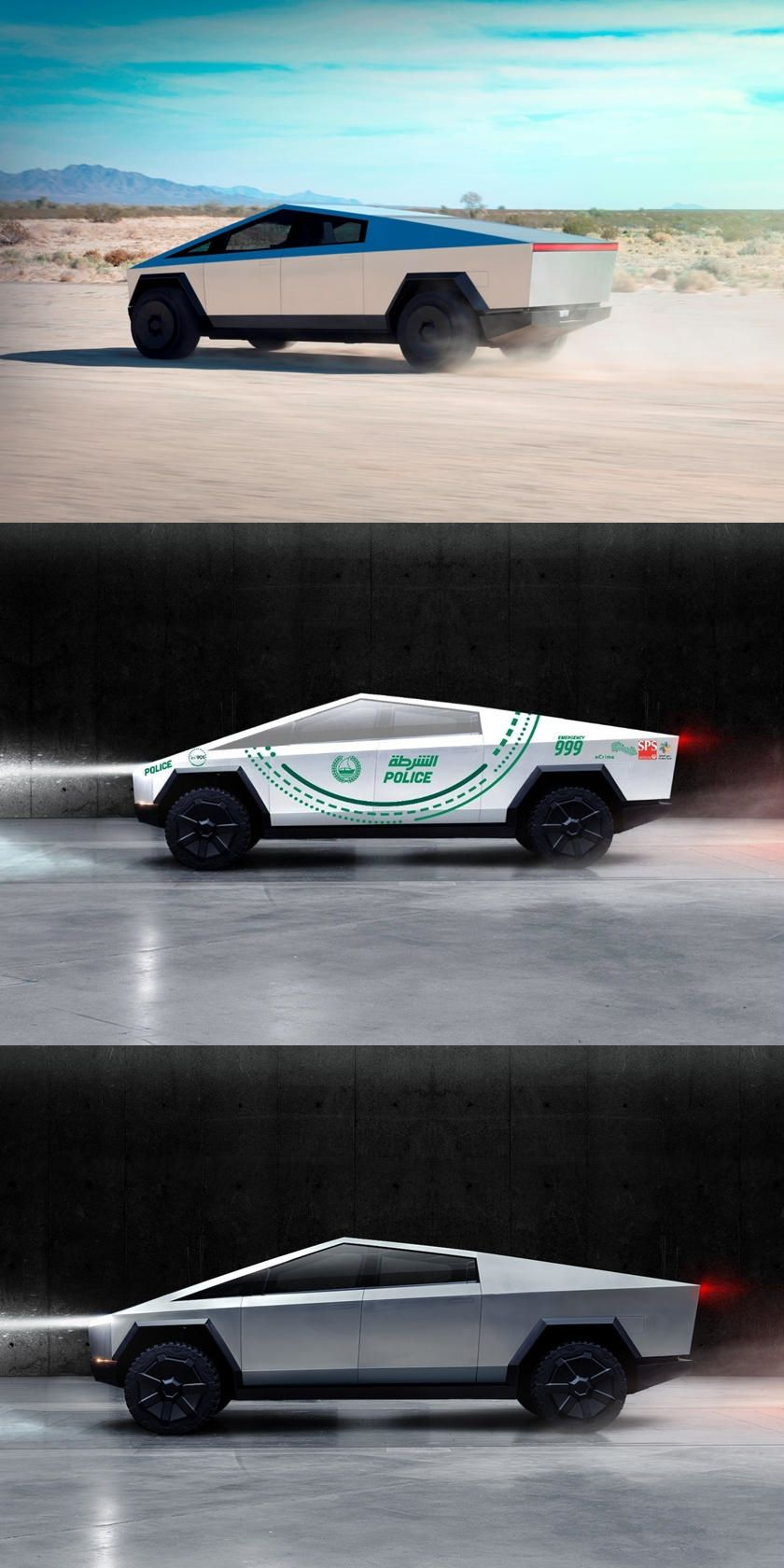 Dubai Police Orders Tesla Cybertruck To Keep The Peace Because Of Course It Has Super Sport Cars Tesla Police