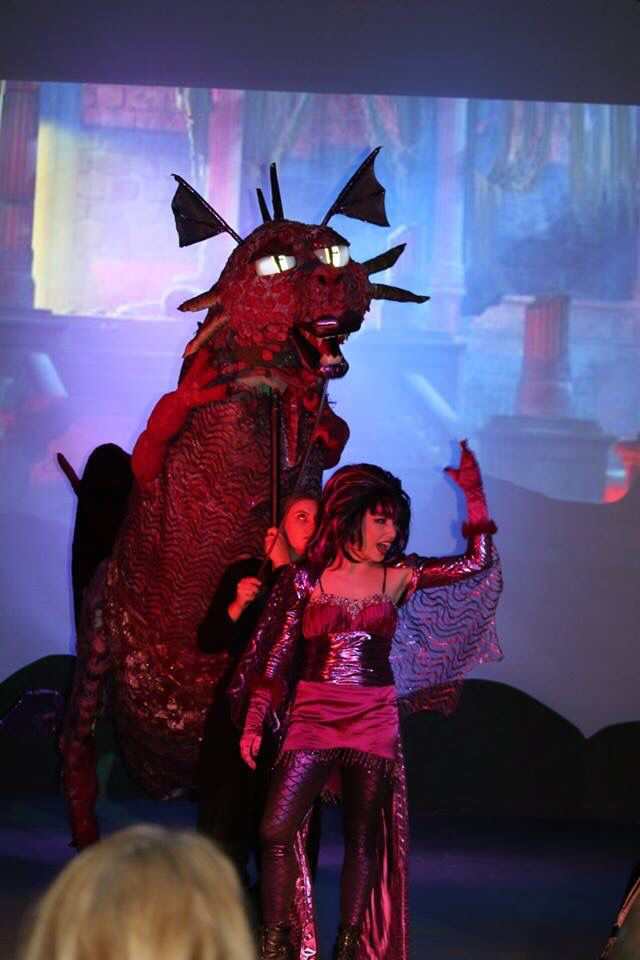 Shrek The Musical Dragon Puppet Dragon Is Awesome Zillah High School Z Center Stage Dragon Puppet Shrek Zillah