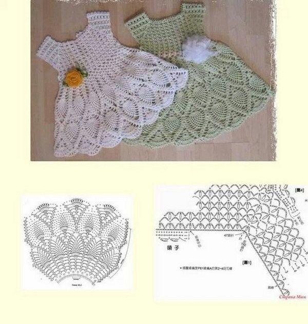 Coole Häkelanleitungen & Ideen für Babys #crochetdress