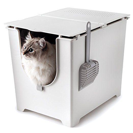 Flip Litter Box Kit Includes Scoop And Reusable Tarp Liner Afflink Best Cat Litter Litter Box Best Litter Box