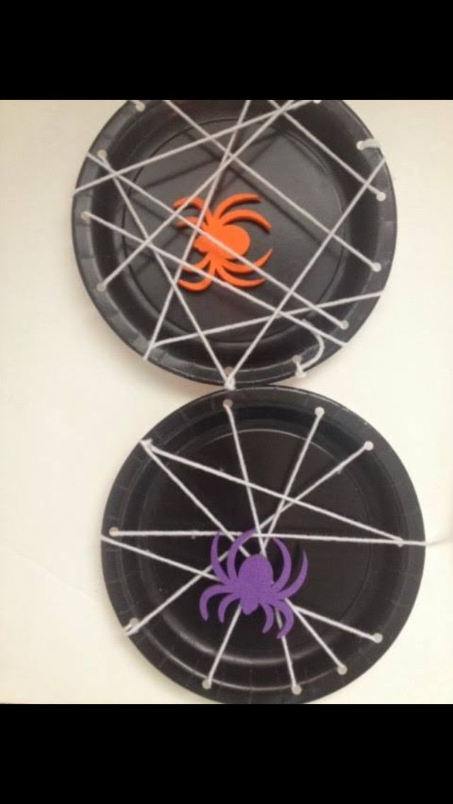 A Spotted Pony u2013 Halloween Bat Craft Annelily Designs u2013 Spider Web Plates Pikadilly Charm u2013 Paper Bag ... & Paper plate spider web | school days | Pinterest | Spider webs ...