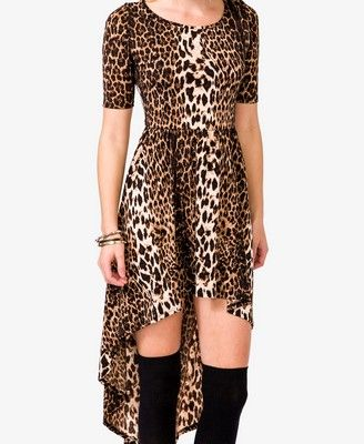 Leopard Print High-Low Dress | FOREVER 21