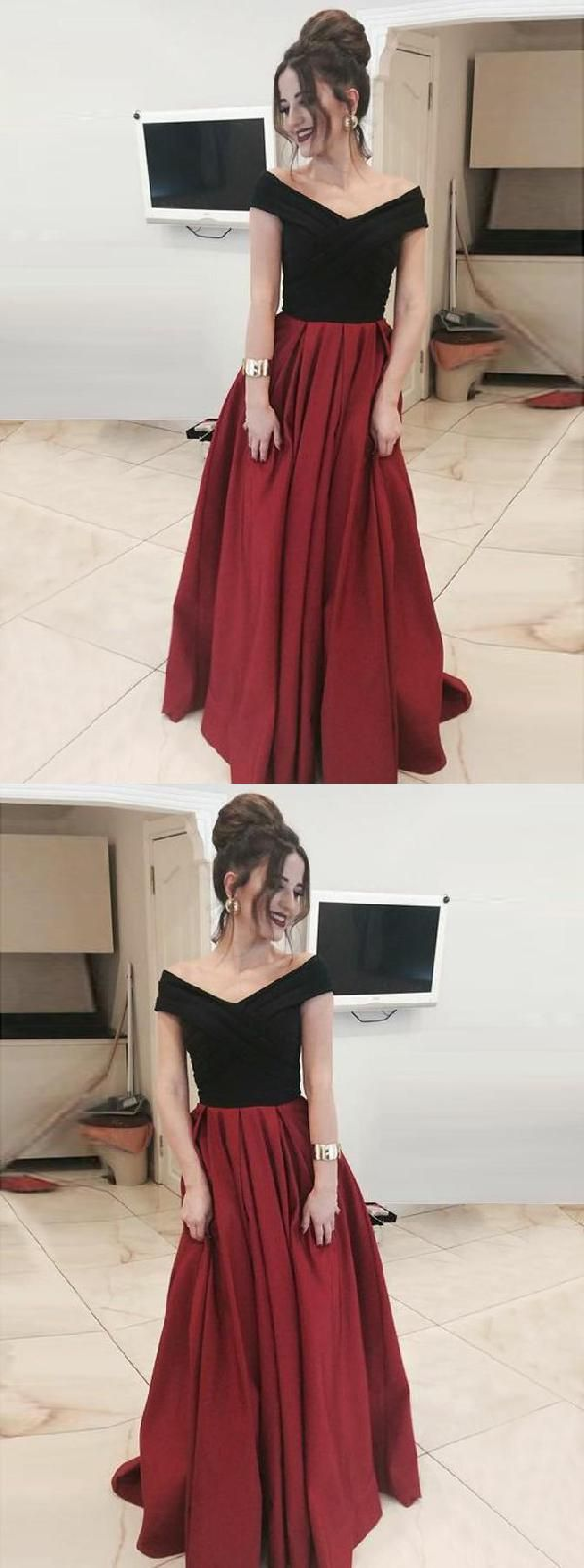 Cheap Absorbing Prom Dresses 2019, Prom Dresses Long, A-Line Prom Dresses, Burgundy Prom Dresses