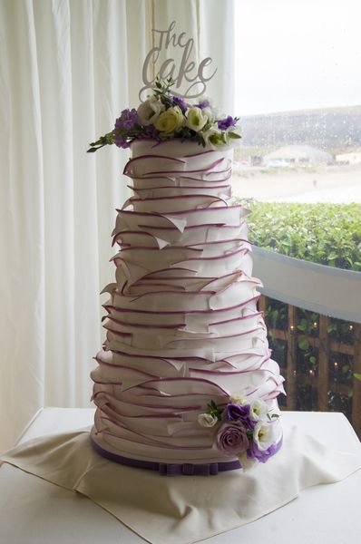 Ruffle Wedding Cake Beautiful Wedding Cakes Made To Order In - Wedding Cake Swansea