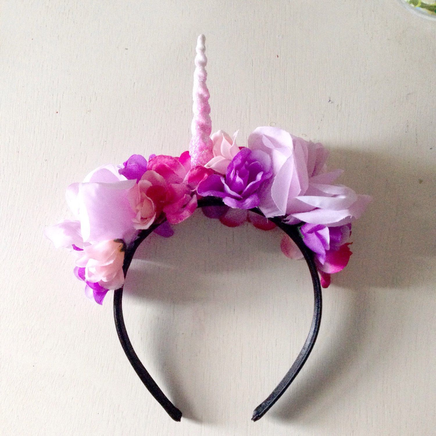 Unicorn Horn Headband - Unicorn Costume - Halloween Costume - Unicorn Crown  - Flower Crown Headband af3dee58d79