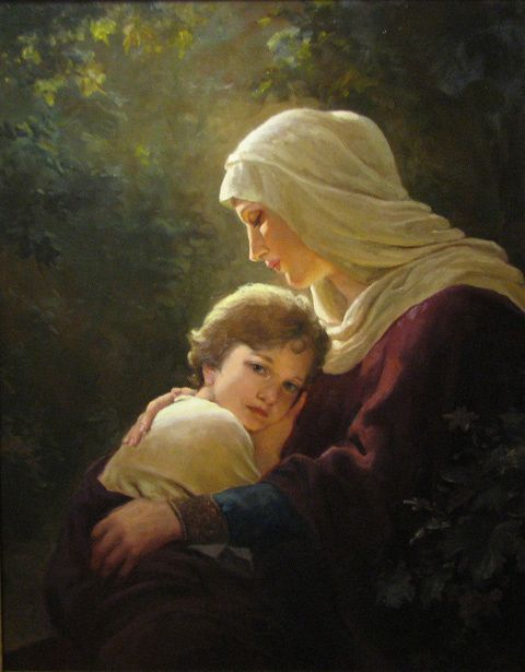 Mary And Child by Andrey Shishkin (Russian)