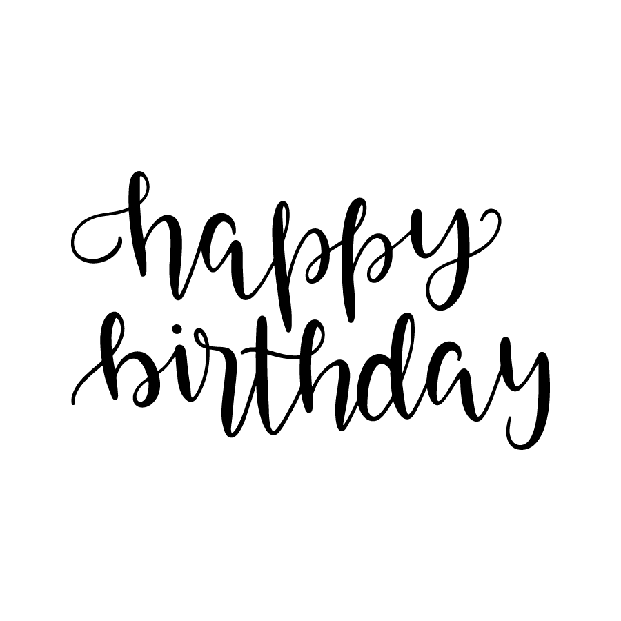 Happy birthday calligraphy. Bundle freebie hand lettering